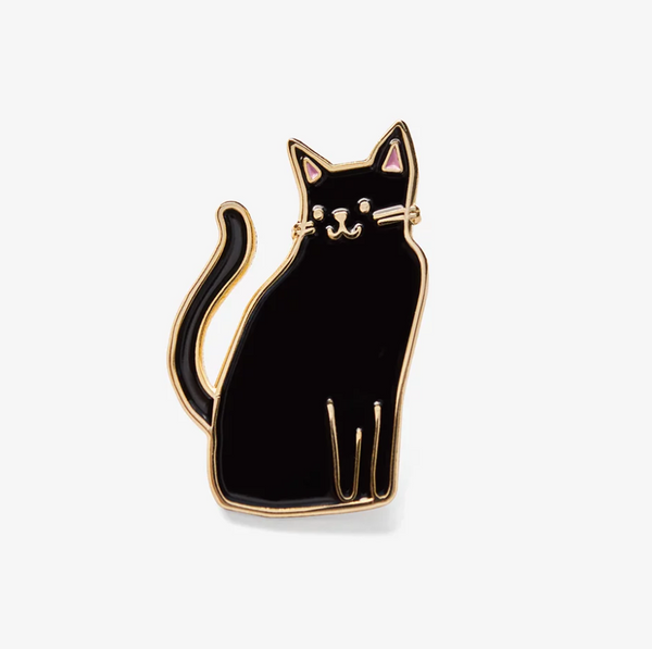 The Good Twin Black Cat Pin