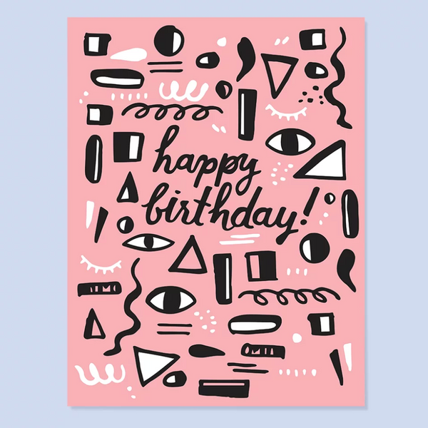The Good Twin Pink Pattern Birthday Card