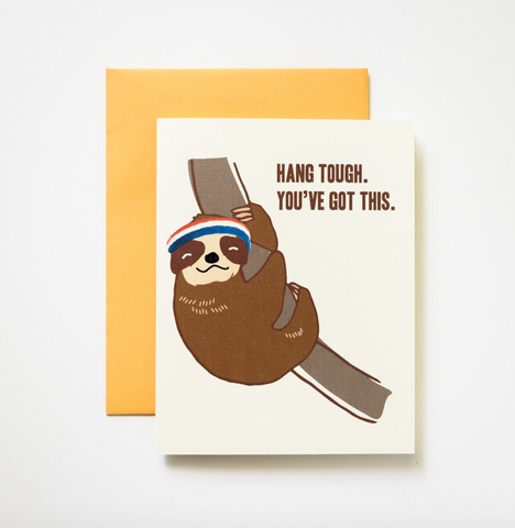 ilootpaperie Hang Tough Sloth Card