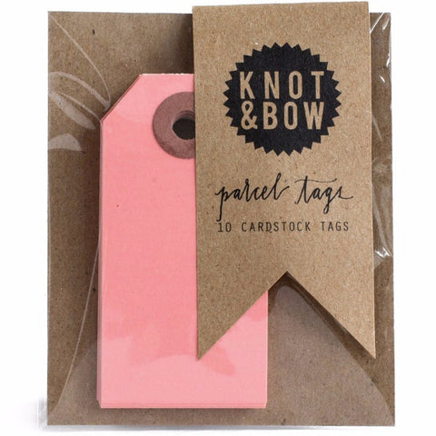 Knot and Bow Parcel Tag 10 Pack