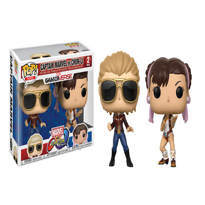 Funko Marvel Vs. Capcom: Captain Marvel Vs. Chun-Li POP! Vinyl Figure 2 Pack