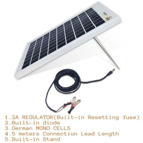 cheap for discount 24a2c 6d0a8 Waterproof 10W 12V Portable SOLAR TRICKLE BATTERY CHARGER 2A REGULATOR