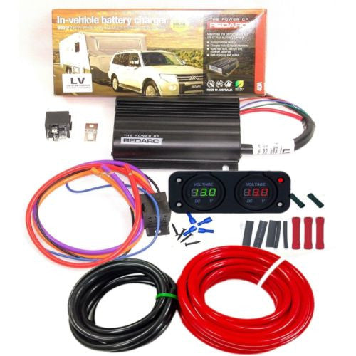 REDARC BCDC 1240 DUAL BATTERY SYSTEM DC-DC CHARGER MPPT SOLAR REPLAY 6B&S KIT
