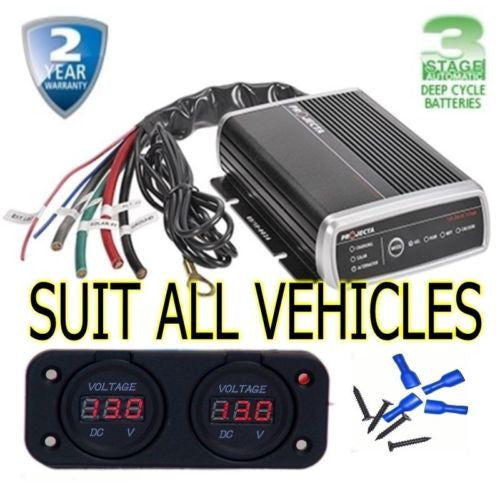 PROJECTA IDC25 DC TO DC MPPT SOLAR 4X4 4WD AGM DUAL BATTERY SYSTEM BUNDLE SALE