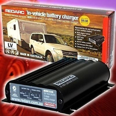 REDARC BCDC 1240LV DUAL BATTERY SYSTEM DC-DC CHARGER MPPT SOLAR RELAY 6B&S KIT