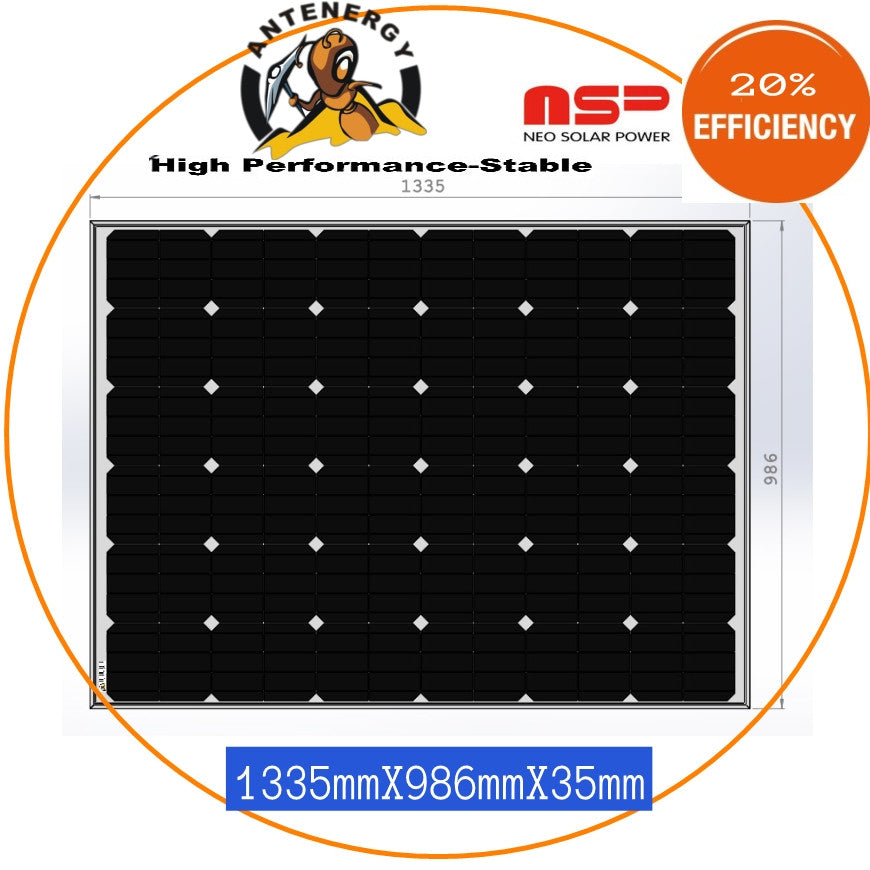 NEO SOLAR POWER Mono 4BB 240W Solar Panel Caravan Boat Camping Charging KIT