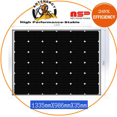 NEO SOLAR POWER Mono 4BB 12V 220W Solar Panel Caravan Boat Camping Charging KIT