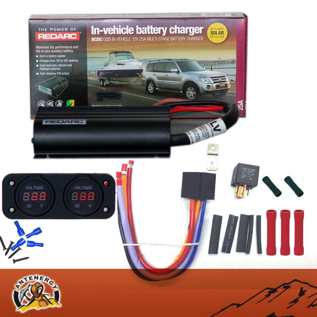 REDARC BCDC1225LV DUAL BATTERY SYSTEM DC TO DC CHARGER MPPT SOLAR