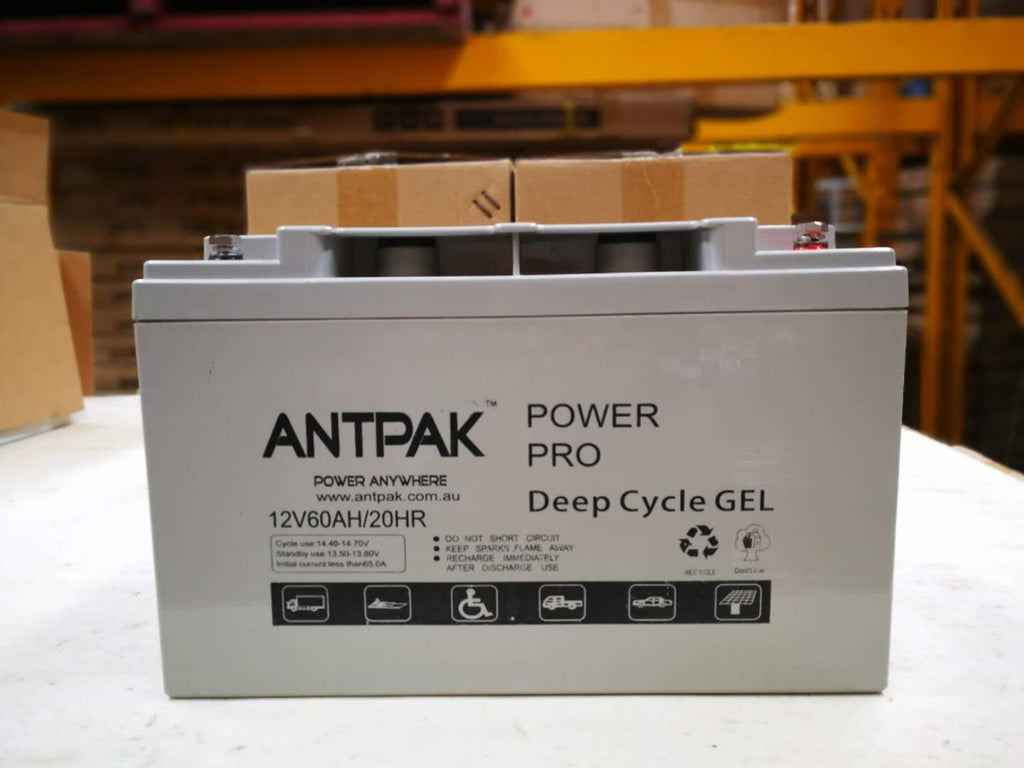ATNENERGY 12V VOLT 60AH AMP HOUR 370CCA AGM DEEP CYCLE BATTERY GOLF CART DUAL SYSTEM