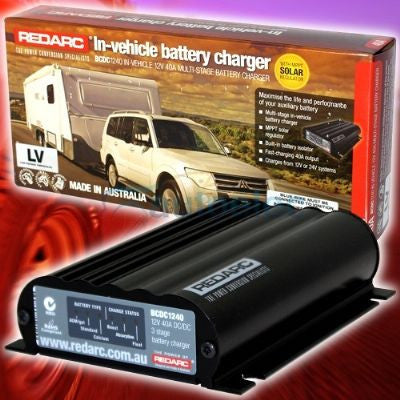 REDARC BCDC 1240 DUAL BATTERY SYSTEM DC TO DC CHARGER MPPT SOLAR BUNDLE SALE
