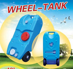 ANTENERGY Portable Wheel Water Tank 40L Camping Motorhome Caravan Storage or Waste Transport
