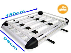 NEW 1.3m CAR 4WD ROOF RACK LUGGAGE CAGE BASKET CARGO CARRIER BOX ALUMINIUM