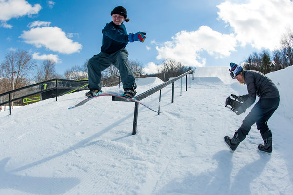 Savannah Shinske Mark Clavin Snowboarder Mag