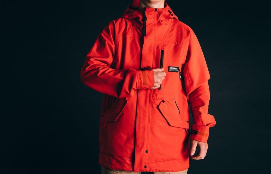 Bonfire Outerwear Aspect Jacket - Whitelines 100
