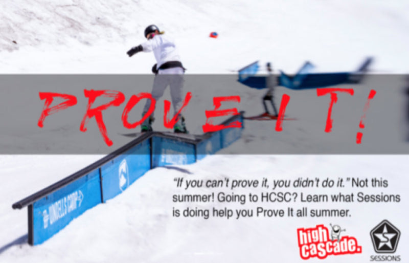 Sessions 'Prove it' at High Cascade Snowboard Camp