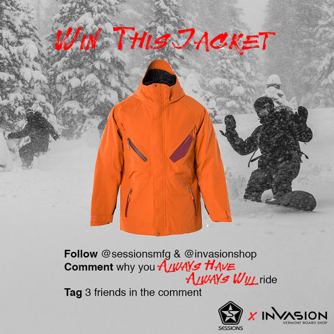 sessions outerwear, invasion snowboard shop
