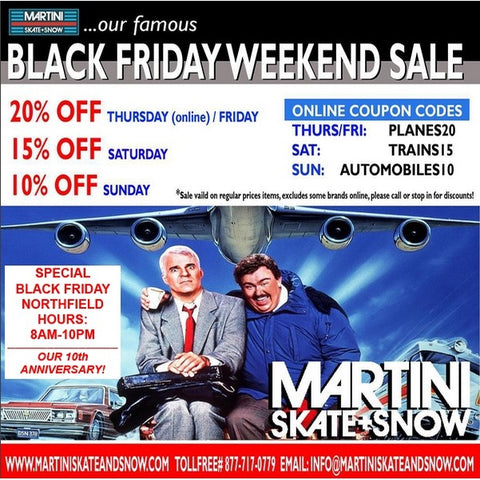 Martini Skate and Snow, Black Friday Sale, Sessions Outerwear