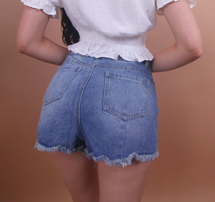 'SIMA' Blue Jean Shorts