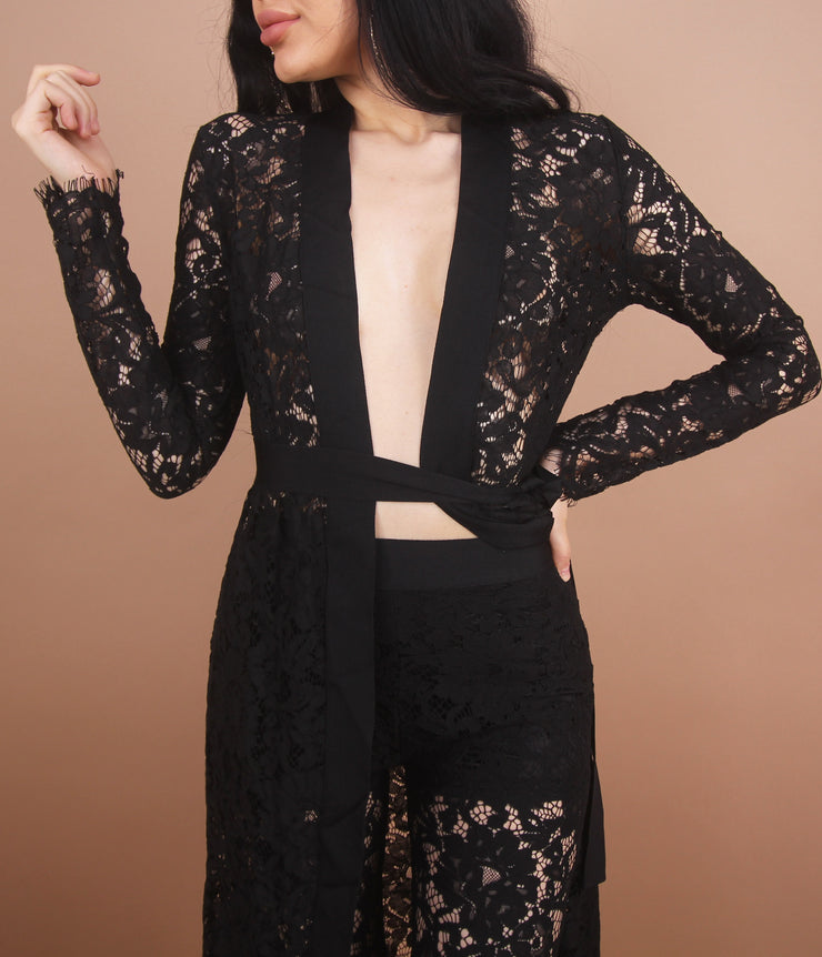'SILVIA' Lace Cover Up Set
