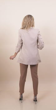 'EMILY' Ruffle Sleeves Detailed | Crumbled Detail | Classy Evening Blazer