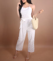 'CECE' White Jumpsuit