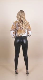 'CELIA' High Waisted | Body Hugged | Leather Tights/Pants
