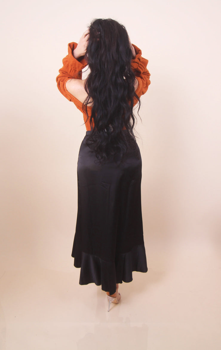 'ENCORE' Satin Skirt