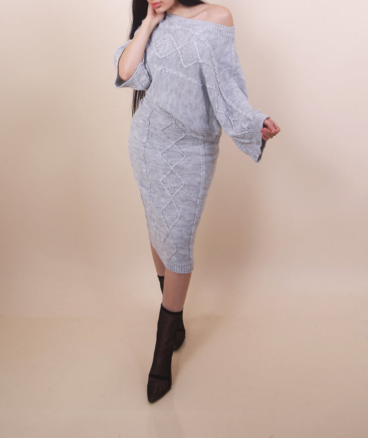 'ADREANA' Two Piece Set / Grey