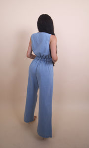 'PAILSEY' Denim Jumpsuit