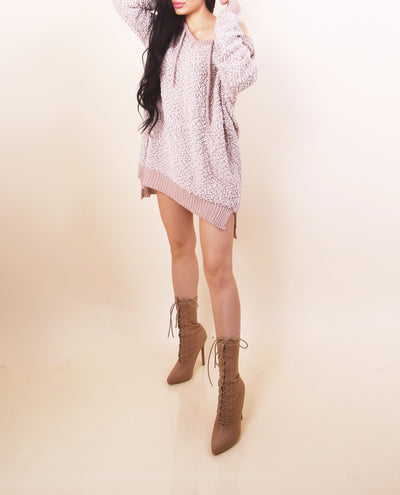 'EMILY' Sweater Dress- Nude