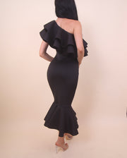 'Dance Me To The Moon' Black Dress