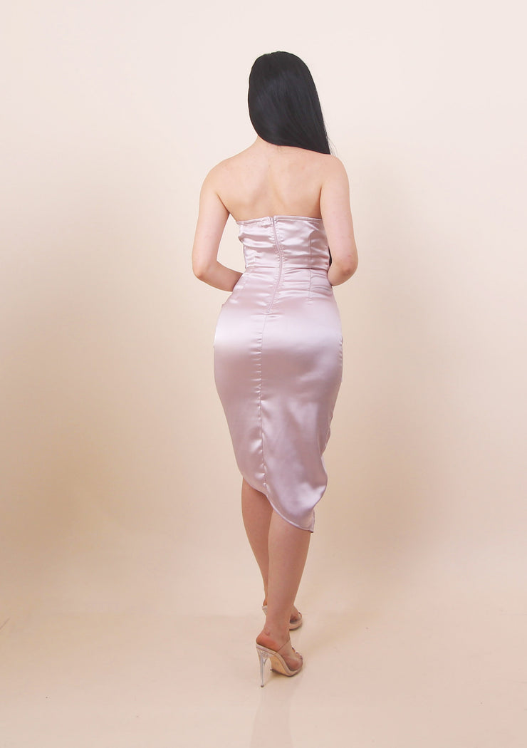'CATALINA' Satin Bodycone Dress