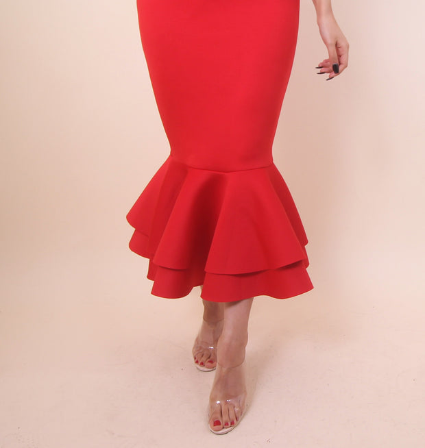 'Dance Me To The Moon' Red Dress