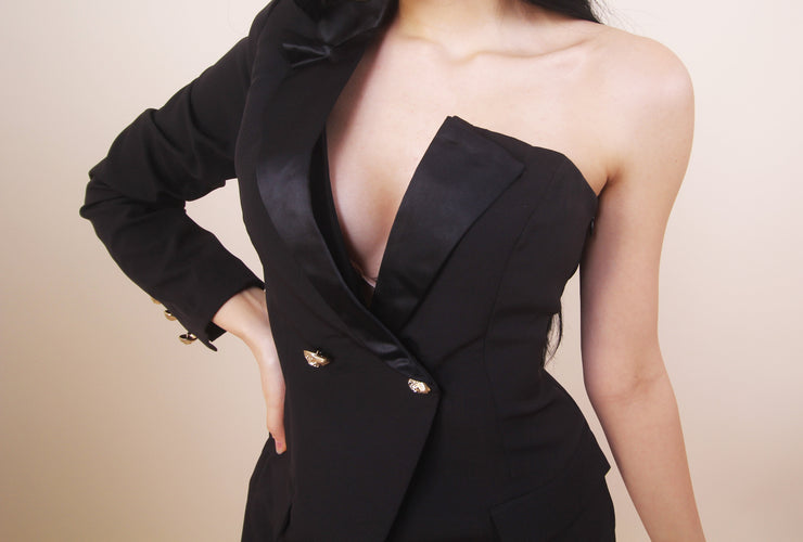'BOSS BABE' Blazer Dress - Black