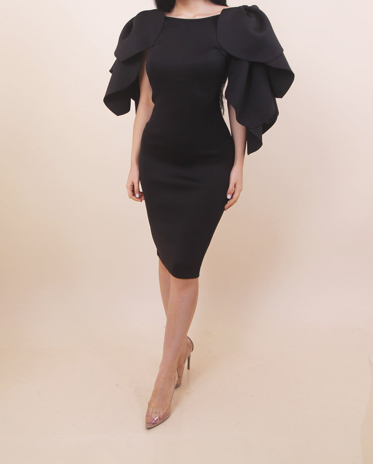 Black Angel Wings Dress
