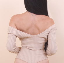 Load image into Gallery viewer, 'TRINITY' Cream Bodysuit