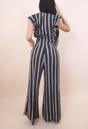'JENNA' Striped Jumpsuit
