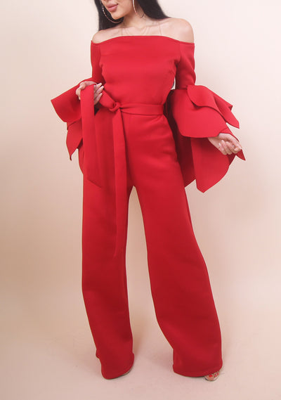 Red Monique Jumpsuit