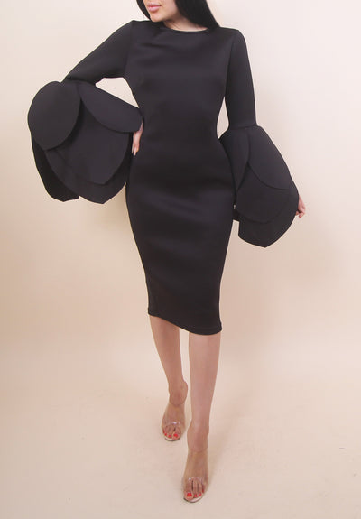 'MONICA' Dress in BLACK