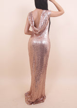Load image into Gallery viewer, 'STACY' Rose Gold Sequin Dress