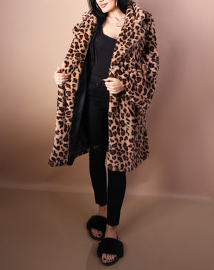 'CHEETAH' Plush Coat