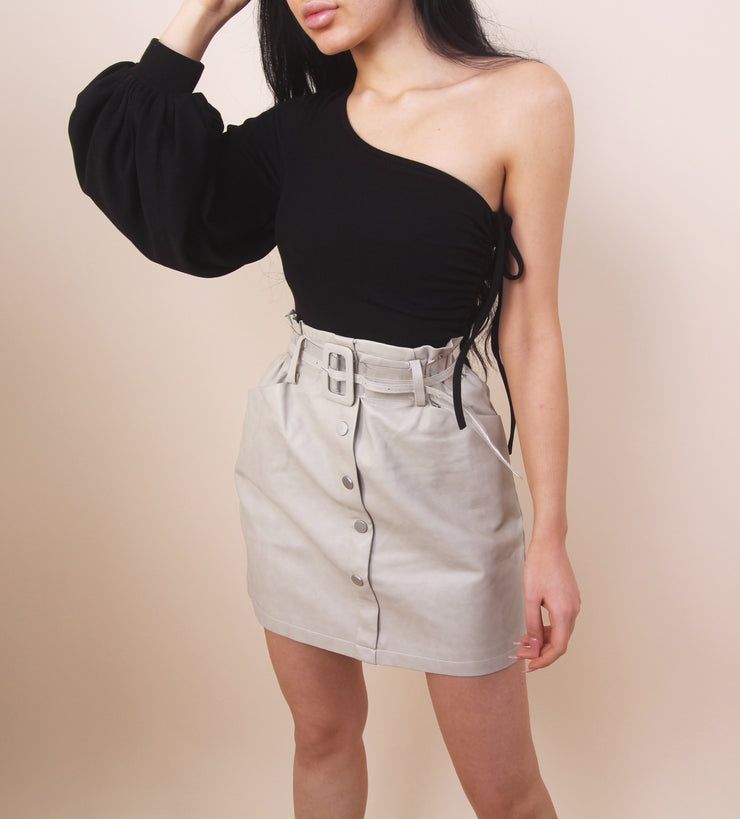 'GINA' Leather Skirt
