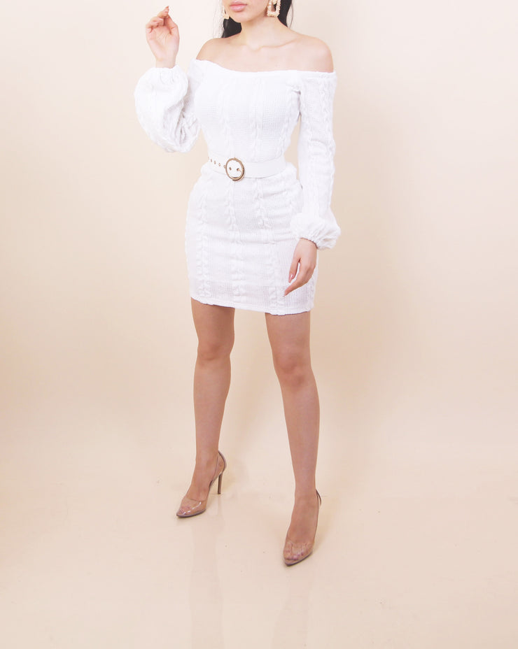 'EMILY' Off Shoulder Sweater Dress