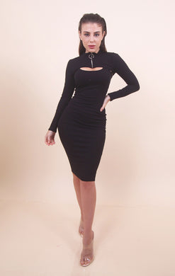'CINDY' Black Dress