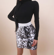 'ELEANA' Cheetah Print Skirt