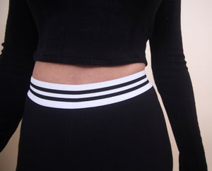 'DESI' Black Yoga Pants