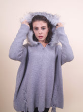 Load image into Gallery viewer, Grey - 'IZZY' Fur Pullover