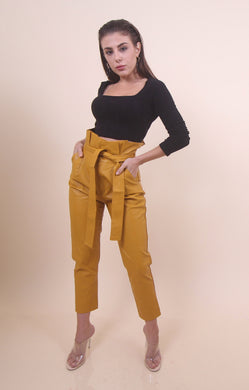 Mustard - 'KIMMI' Leather Pants