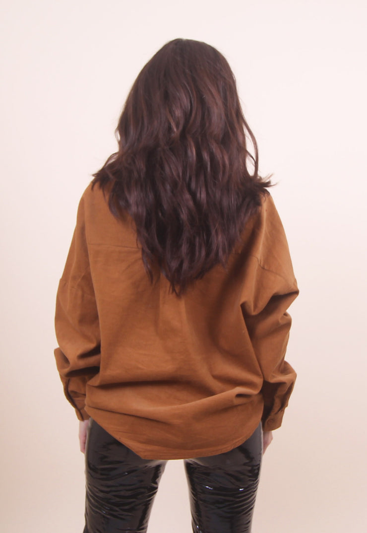 'VIVIAN' Corduroy Twist Top