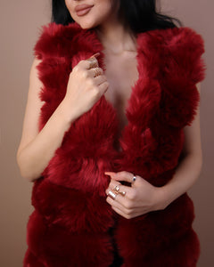 'DANGEROUS' Faux Fur Vest